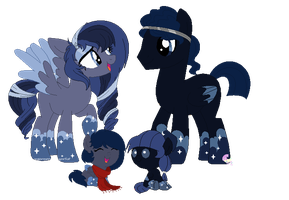 Night Cloud family by SugarMoonPonyArtist