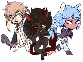 T: Pudgy Chibis by MilkBearry