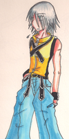 Older Riku, younger clothes xD by SilverRiku