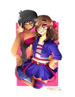 Junko and I ((Speedpaint)) by PieperStars