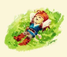 Nap on the grass by amoykid