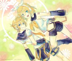Vocaloid: Rin and Len by Celsa