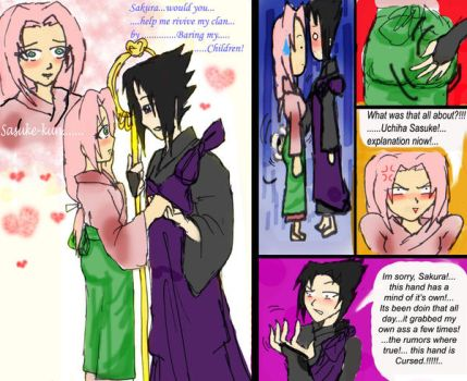 sasuke's naughty hand by 1amm1
