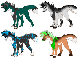 Punk dogs batch 7 ONE LEFT! by Padded-Paws