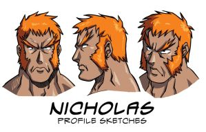 Nicholas Profile Sketches by guerotheartist