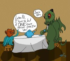 Bear-o-pus and Cthulhu tea party by CoolestNinja1242