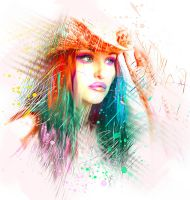 throw the color by L-A-Addams-Art