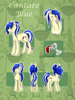 ref sheet / cantare blue by teabutts