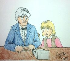 The Doctor and Jo Grant by Donnietu