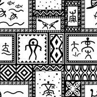 Petroglyph pattern stock by Enkai