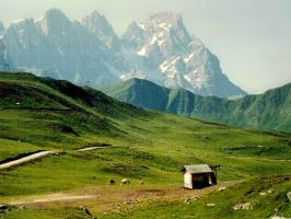 Hut and horses by edelweiss26