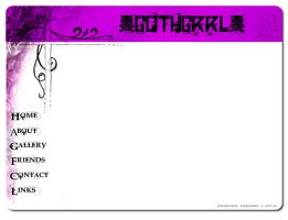 Web Template - Gothgrrl by DreamMedia-UK