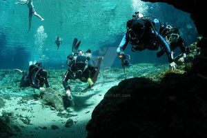 Ginny Springs Cave Training Dive - Summer 2010 by Namyr