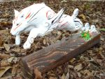 Finished Okami sculpture by Clinkorz