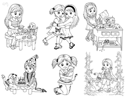 Rubber Stamp Designs by chryztal
