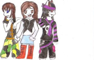 Colab 3Friends -coloured- by firenanaki