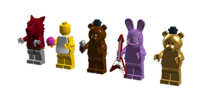 Lego Five Night's At Freddy's Minifigures by SonicTheDashie