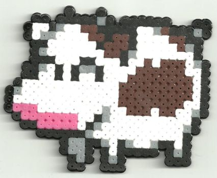 Harvest moon happy cow by Ravenfox-Beadsprites