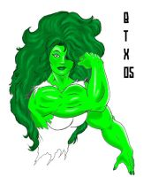 She Hulk Flexin'. by BrianThomasX