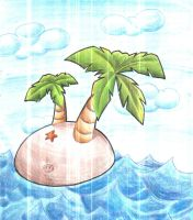 Small Tropical Island. by Virus-20