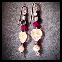 Affairs of the Heart Earrings by copper9lives
