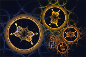 Fractal Wallpaper LII: Golden Spin by ScraNo