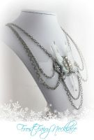 Frost Fairy Draped Crystal Necklace by glittrrgrrl