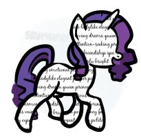 Drawwithwords: Rarity by Asterismo