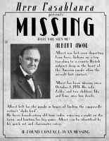 Albert Awol's Missing Poster by shadowdion