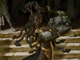 Keepsake Gorgon - MtG - Theros by AaronMiller