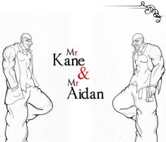 Mr Kane and Mr Aidan LINE by Adder24