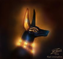 Lord Anubis Idol Color by BlackUniGryphon