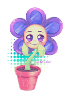 Commission - Flower in the pot by Wild-Fluff