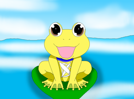 DxDoggymon as a Frog XD by HeroHeart001