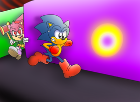 Sonic The Pac-Hog Chase by ClassicSonicSatAm