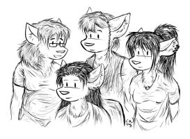 Family of Four by CameronCN