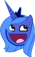 Princess Luna Awesome Face by wakabalasha