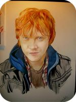 ron wesley rupert grint by karlyilustraciones