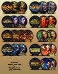 Warcraft game series icon pack by KingReverant