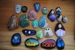 Painted Rocks by Loriele