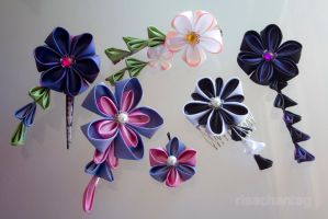Silk Kanzashi by Risachantag