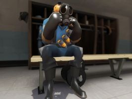 sad pyro by qatarz