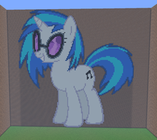 Vinyl Scratch Minecraft by annary