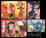 misc sketch cards 10 by katiecandraw