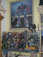 My Transformers Diorama corner. by Catskind