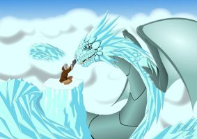 Ice Dragon by KryptnKnight