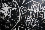 graffti in the hostel by loobyloukitty