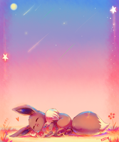 :commission: sleeping under the sunset by kori7hatsumine