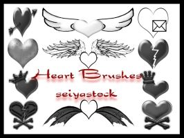Heart Brushes by seiyastock