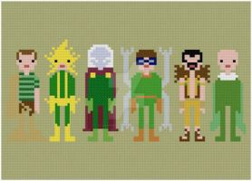 Sinister Six cross stitch pattern by avatarswish